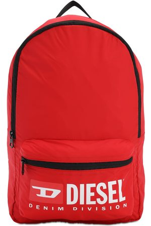 Diesel Logo Print Nylon Backpack