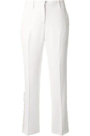 Nº21 Cropped ruffle detail trousers