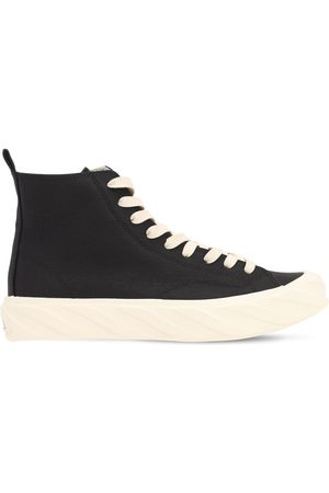 AGE - ACROSS TO GENUINE ERA Carbon Coated Canvas High Top Sneakers