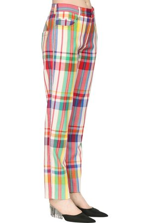 AREA Check Rainbow Plaid Wool Pants