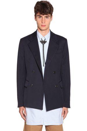Prada Double Breasted Wool Gabardine Jacket