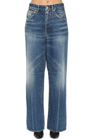 UNRAVEL Wide Leg Cotton Denim Jeans