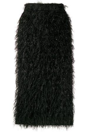 Ami Textured midi skirt