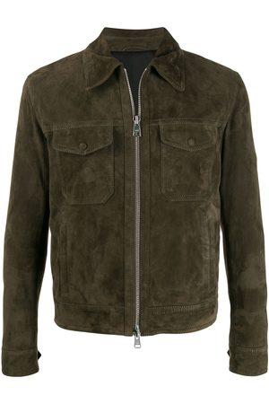 Ami Paris Patch pocket suede jacket