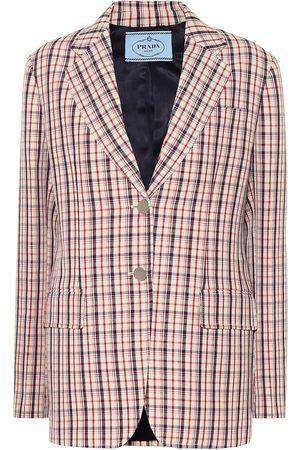 Prada Damen Blazer & Sakkos - Karierter Blazer aus Schurwolle