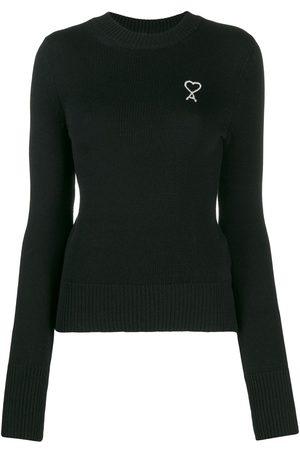 Ami Embroidered logo crew-neck jumper