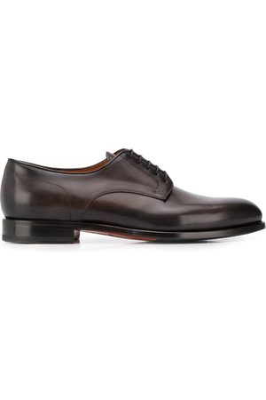 santoni Lace-up low-heel derby shoes