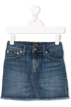 Ralph Lauren Kids Frayed denim skirt