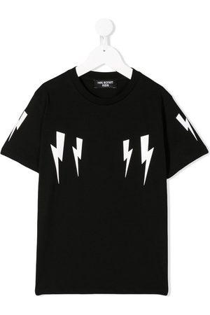 Neil Barrett Kids Lightning print T-shirt