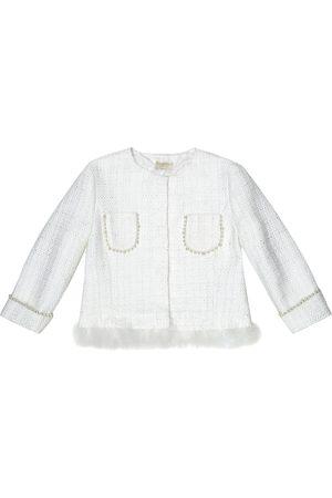 MONNALISA Verzierte Jacke aus Tweed