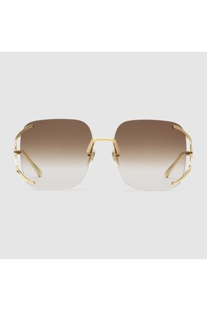 Gucci Damen Sonnenbrillen - Quadratische Sonnenbrille aus Metall