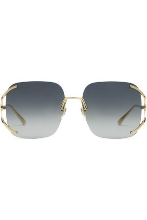 Gucci Eyewear Square metal sunglasses
