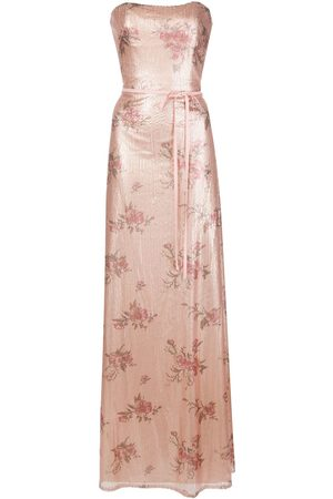 Marchesa Notte Bridesmaids Bridesmaid floral-printed sequin gown