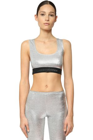 Paco rabanne Stretch Lurex Jersey Crop Top