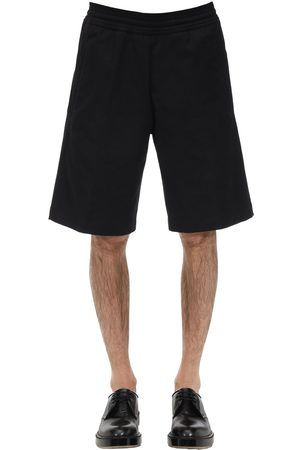 Neil Barrett Oversize Cotton Blend Canvas Shorts