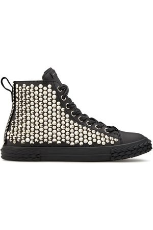 Giuseppe Zanotti High top stud-embellished sneakers