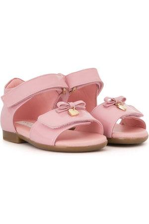 Dolce & Gabbana Kids Heart-charm bow sandals