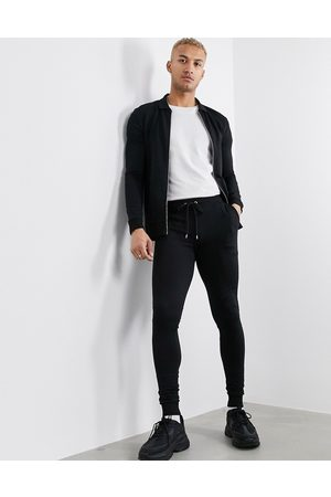 ASOS DESIGN Muscle tracksuit with harrington jacket in