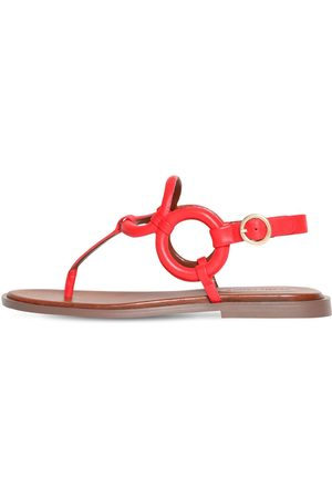 See by Chloé 10mm Leather Thong Flats