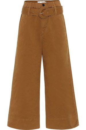Proenza Schouler White Label Hose aus Baumwolle mit weitem Bein