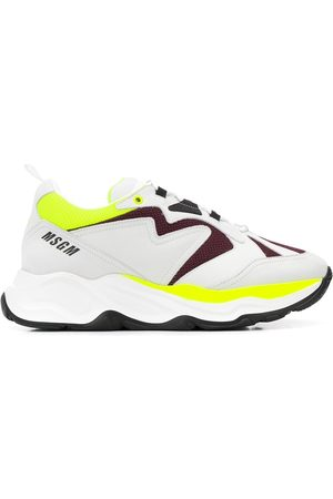 Msgm Contrast-panel low-top trainers