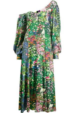 Natasha Zinko Damen Asymmetrische Kleider - Floral-print asymmetric dress