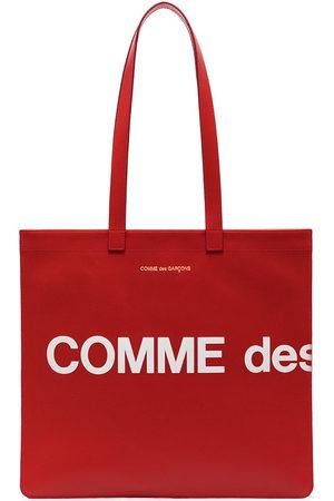 Comme Des Garçons Wallet Logo print tote bag