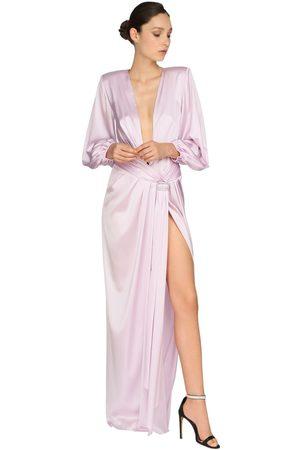 ALEXANDRE VAUTHIER Langes Kleid Aus Stretch-satin