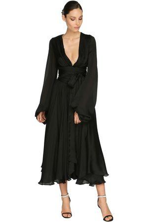 ALEXANDRE VAUTHIER Kleid Aus Satinchiffon