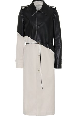 Bottega Veneta Trenchcoat aus Gabardine mit Leder