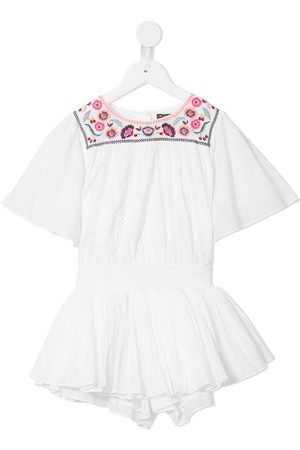 Velveteen Blair floral embroidered playsuit