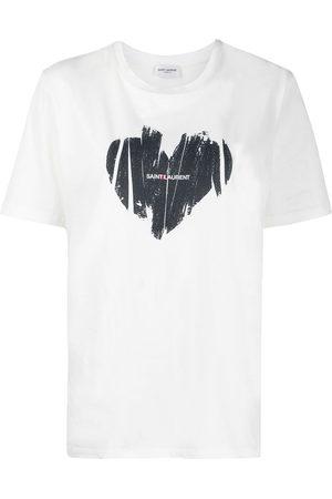 Saint Laurent Heart logo T-shirt