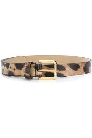Dolce & Gabbana Leopard-print belt