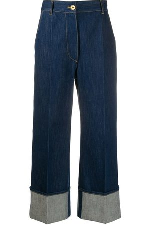 Patou High-rise cuffed jeans
