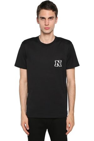 Neil Barrett T-shirt Aus Baumwolljersey Mit Logopatch