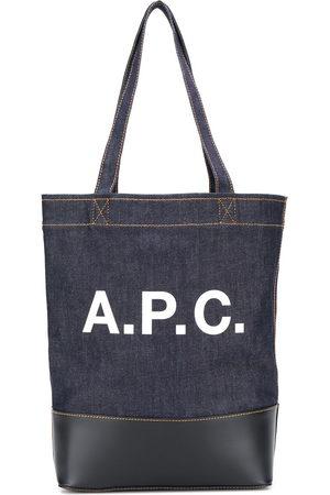 A.P.C Logo print denim tote