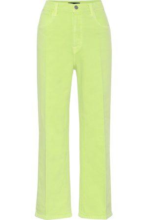 J Brand Damen High Waisted - High-Rise Jeans Joan mit weitem Bein