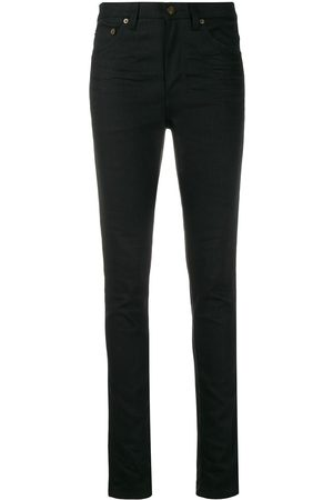 Saint Laurent Damen High Waisted - Mid-rise skinny denim jeans