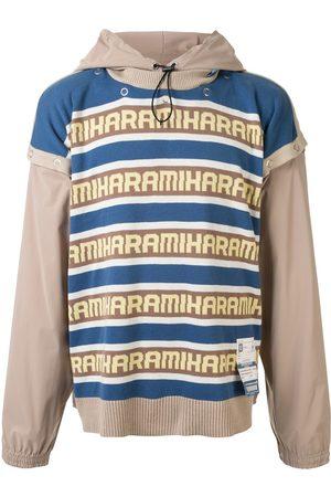 Maison Mihara Yasuhiro Layered logo knit hoodie