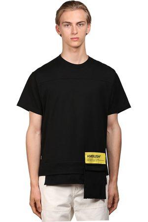 AMBUSH Logo Cotton Jersey T-shirt W/ Pocket