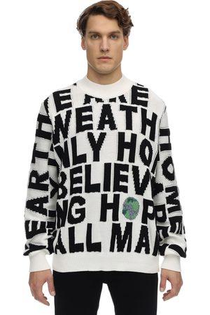 Stella McCartney Herren Sweatshirts - Block Words Cotton Knit Sweater