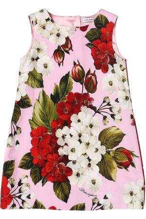 Dolce & Gabbana Kleid Aus Cady Mit Druck