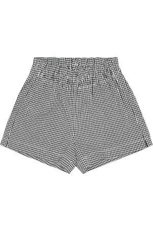 Il gufo Mädchen Shorts - Karierte Shorts aus Seersucker