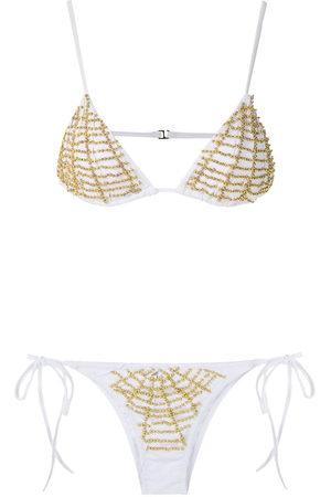 AMIR SLAMA Beaded triangle bikini set