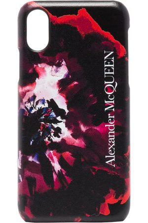 Alexander McQueen Painterly rose iPhone XS CSS leather case