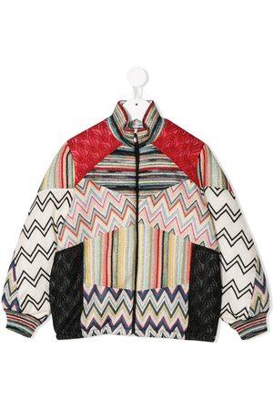 Missoni Mädchen Sommerjacken - Knit detail bomber jacket