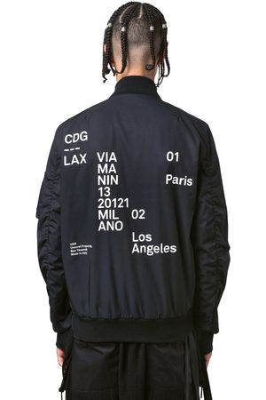 UNRAVEL Lax Printed Tech Bomber Jacket