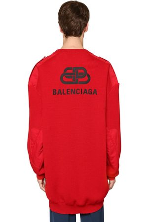 Balenciaga Oversized Pullover Aus Wolle