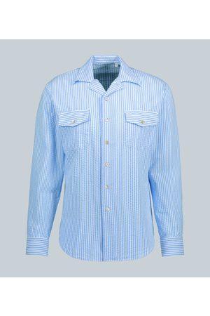 THE GIGI Seersucker-Hemd Araki aus Baumwolle
