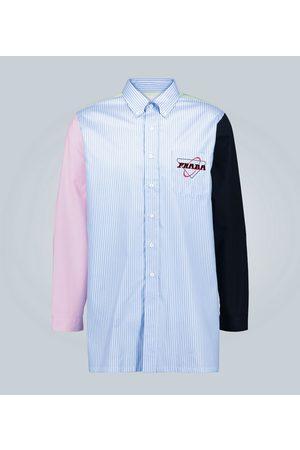 Prada Gestreiftes Hemd mit Patch